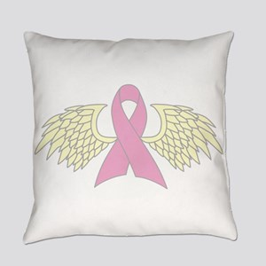 Angel Wings Cancer Ribbon Everyday Pillow