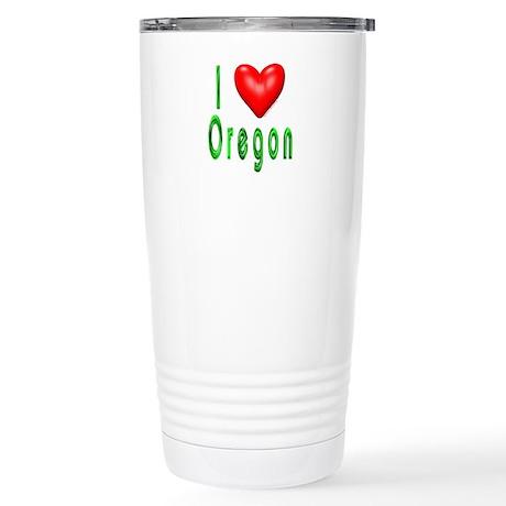 Love Oregon Stainless Steel Travel Mug