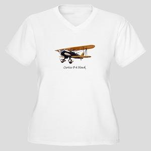Curtiss P-6 Hawk Women's Plus Size V-Neck T-Shirt