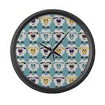 Sleep-Sheep - Large Wall Clock