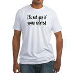 It's Not Gay Fitted T-Shirt
