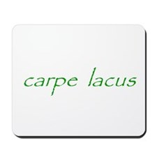 carpe lacus - GREEN Mousepad