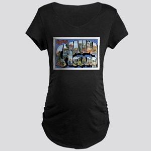 Catalina Island CA Maternity Dark T-Shirt