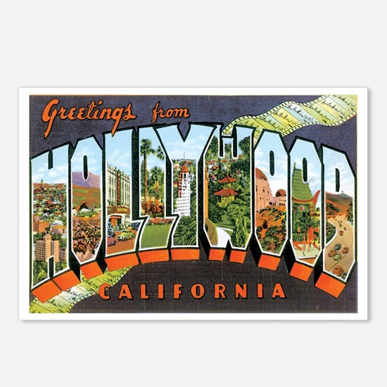 Hollywood California Postcards (Package of 8)