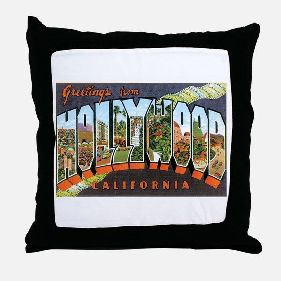 Hollywood California Throw Pillow