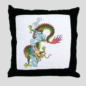 Dragon Tattoo Art Throw Pillow