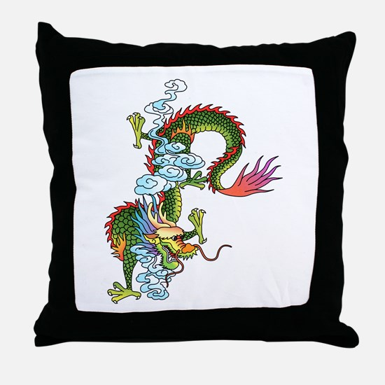 Dragon Tattoo Art Throw Pillow