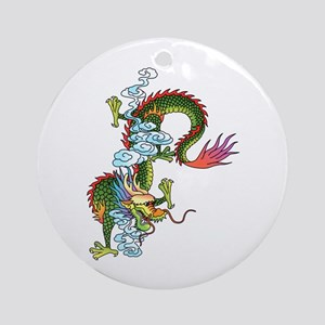 Dragon Tattoo Art Ornament (Round)