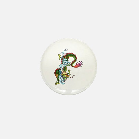 Dragon Tattoo Art Mini Button