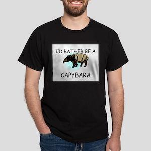 I'd Rather Be A Capybara Dark T-Shirt