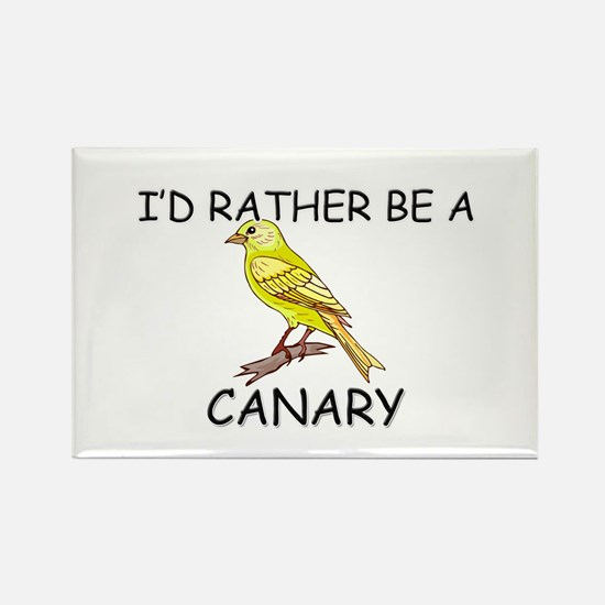 I'd Rather Be A Canary Rectangle Magnet (10 pack)