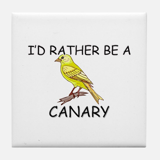 I'd Rather Be A Canary Tile Coaster