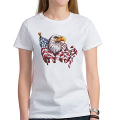 Eagle & Old Glory Women's T-Shirt