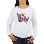 Eagle & Old Glory Women's Long Sleeve T-Shirt
