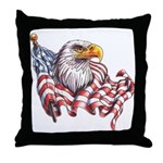 Eagle & Old Glory Throw Pillow