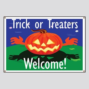 Trick or Treaters Welcome Banner
