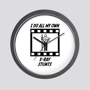 X-Ray Stunts Wall Clock
