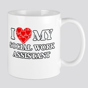 I Love my Social Work Assistant Mugs