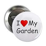 I (Heart) My Garden Button