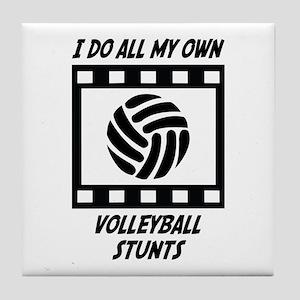 Volleyball Stunts Tile Coaster