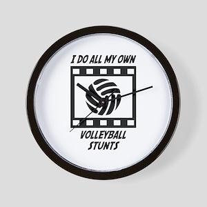 Volleyball Stunts Wall Clock