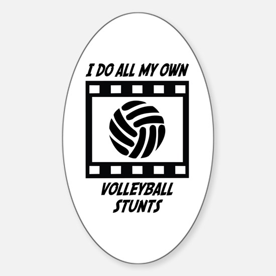 Volleyball Stunts Oval Decal