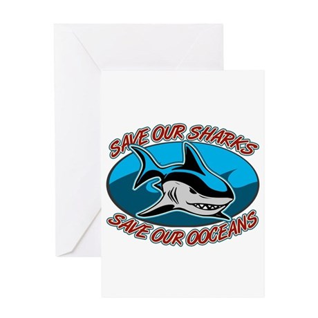 Save Our Sharks Greeting Card