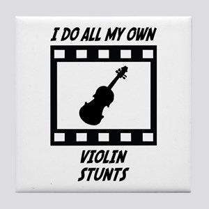Violin Stunts Tile Coaster
