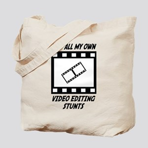 Video Editing Stunts Tote Bag