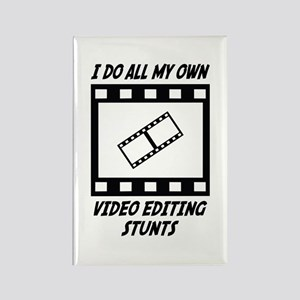 Video Editing Stunts Rectangle Magnet