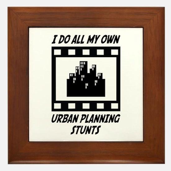 Urban Planning Stunts Framed Tile