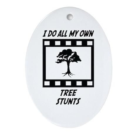 Tree Stunts Oval Ornament