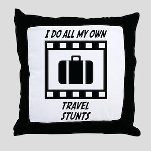Travel Stunts Throw Pillow