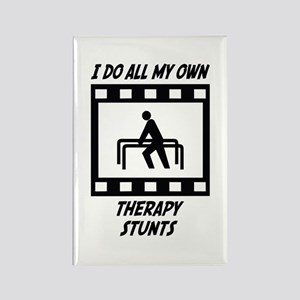 Therapy Stunts Rectangle Magnet