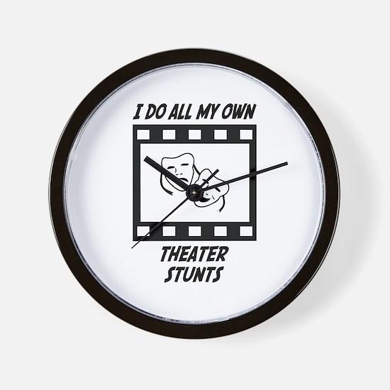 Theater Stunts Wall Clock