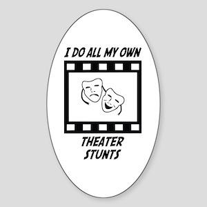 Theater Stunts Oval Sticker