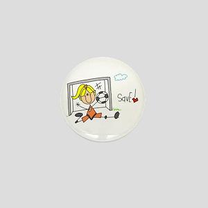 Girl Soccer Goalie Mini Button
