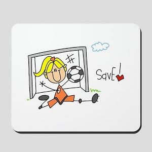 Girl Soccer Goalie Mousepad