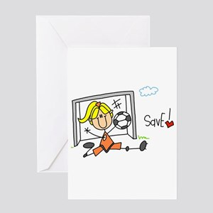 Girl Soccer Goalie Greeting Card