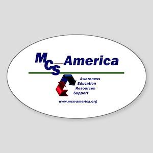 MCS America Logo Oval Sticker