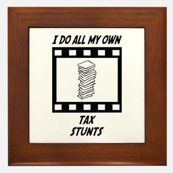 Tax Stunts Framed Tile