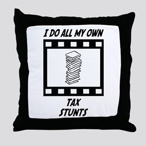 Tax Stunts Throw Pillow