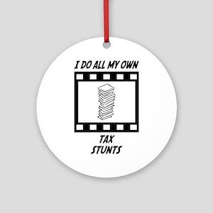 Tax Stunts Ornament (Round)
