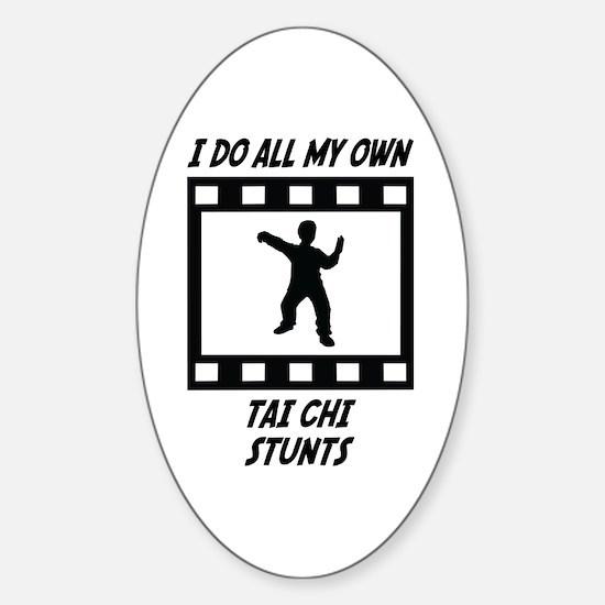 Tai Chi Stunts Oval Decal