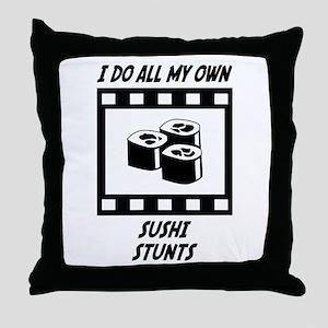 Sushi Stunts Throw Pillow
