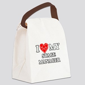 I Love my Stage Manager Canvas Lunch Bag