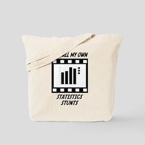 Statistics Stunts Tote Bag