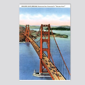 Golden Gate CA Postcards (Package of 8)