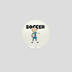 SOCCER Stick Figure Mini Button