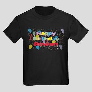 Happy Birthday Rowan Kids Dark T-Shirt